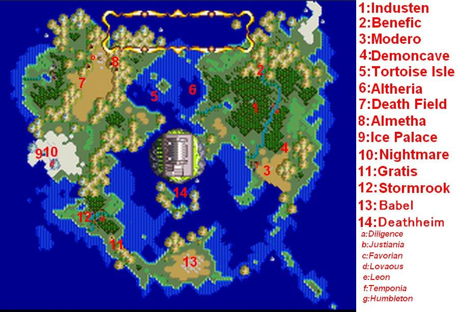 Terranigma World Map : 地図 無料 : 無料