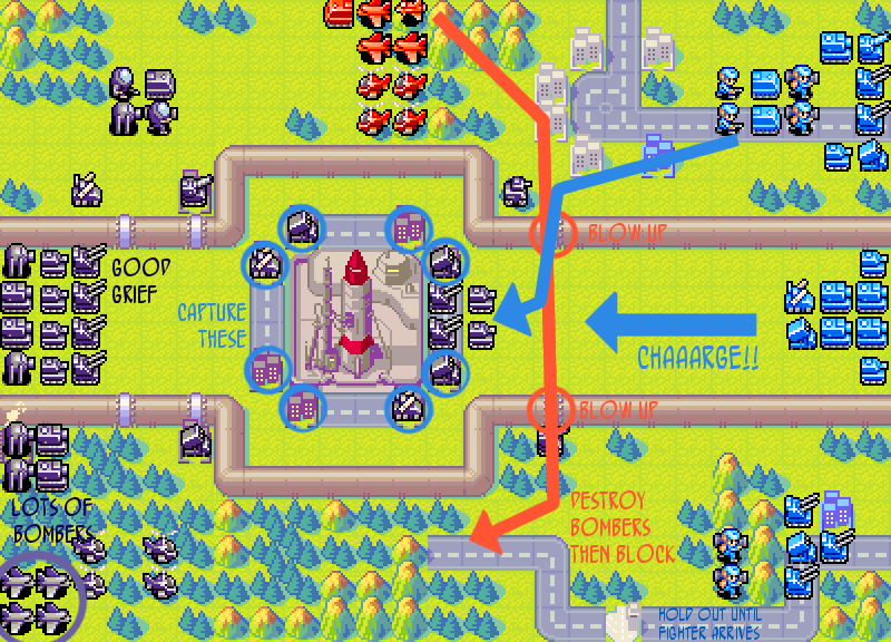 "Advance Wars 2 Part #17 - Mission 14: T Minus 15 (or ""The Super Cool Power  of getting in each other's way"")"