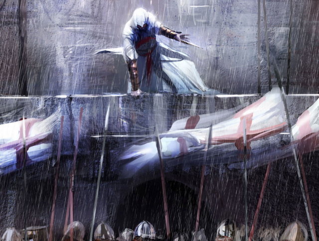 Assassins Creed, Альтаир ибн Ла Ахад, игры - обои на рабочий стол.