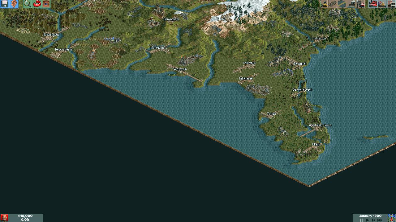 Chris Sawyers Locomotion Part North America - Us map 1922