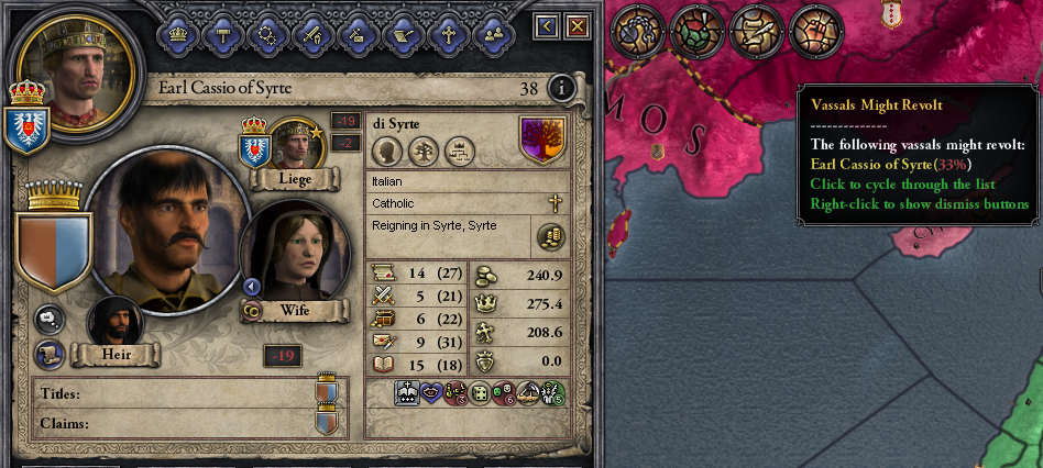 crusader kings 2 title loss on succession