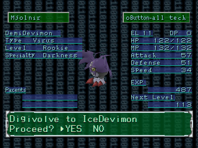 How to use missile gun digimon world 2