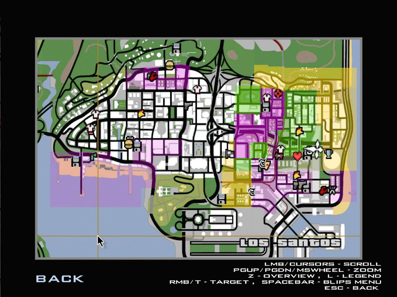 san andreas gang territory disappeared