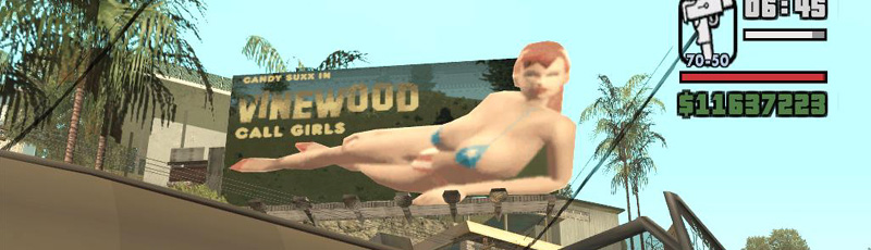 Consider, san andreas girl nude words