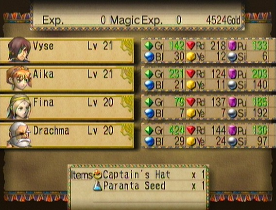 Anyway For Our Troubles We Get The Captains Hat A Vyse Only Accessory That Boosts Attack By Whopping 80 Points Normally I Keep This Glued To His Head