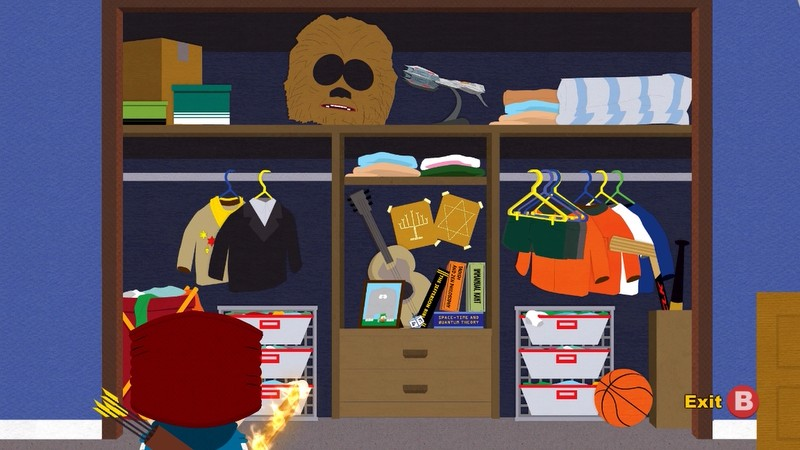 Finally Hereu0027s Kyleu0027s Closet. Not Sure What I Was Expecting, But A Gigantic  Chewbacca Mask Wasnu0027t It.