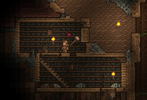 how to make a back wall in terraria