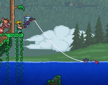 Terraria part 27 another brick in the wall for Terraria fishing bait