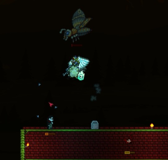 Terraria Part 40 Monster Mash Can't wait for that giant moth to tear his face off. terraria part 40 monster mash