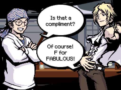 Image result for the world ends with you f for fabulous