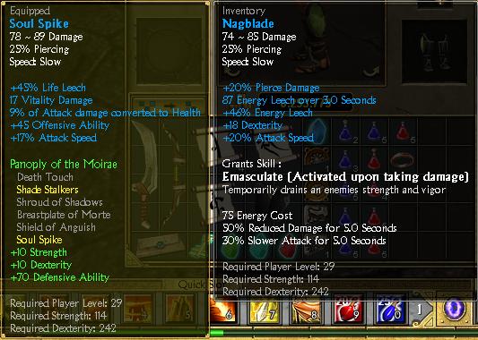 titan quest item codes