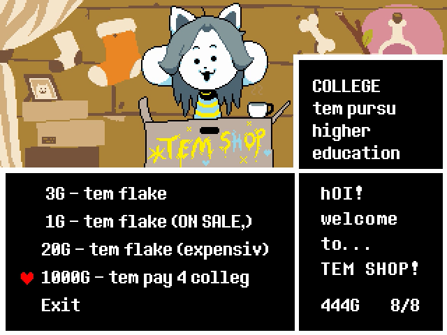 tem money for college